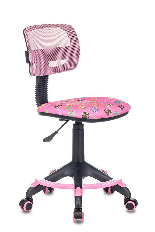 Кресло детское БЮРОКРАТ CH-299-F, на колесиках, ткань, розовый [ch-299-f/pk/flipflop_p]