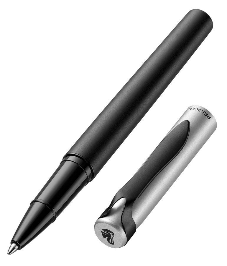 Ручка роллер Pelikan Stola 2 (PL929729) черный/серебристый черные чернила подар.кор.