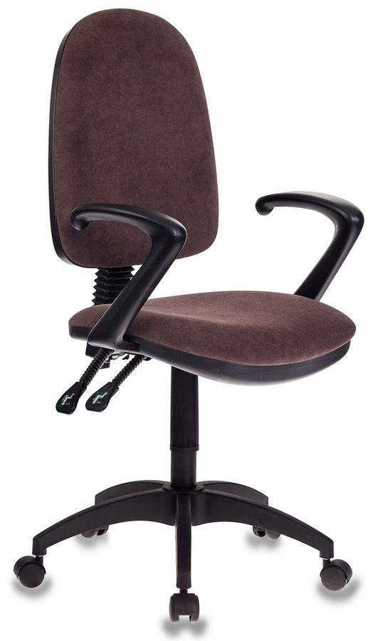 Кресло БЮРОКРАТ T-610, на колесиках, ткань [t-610/brown]