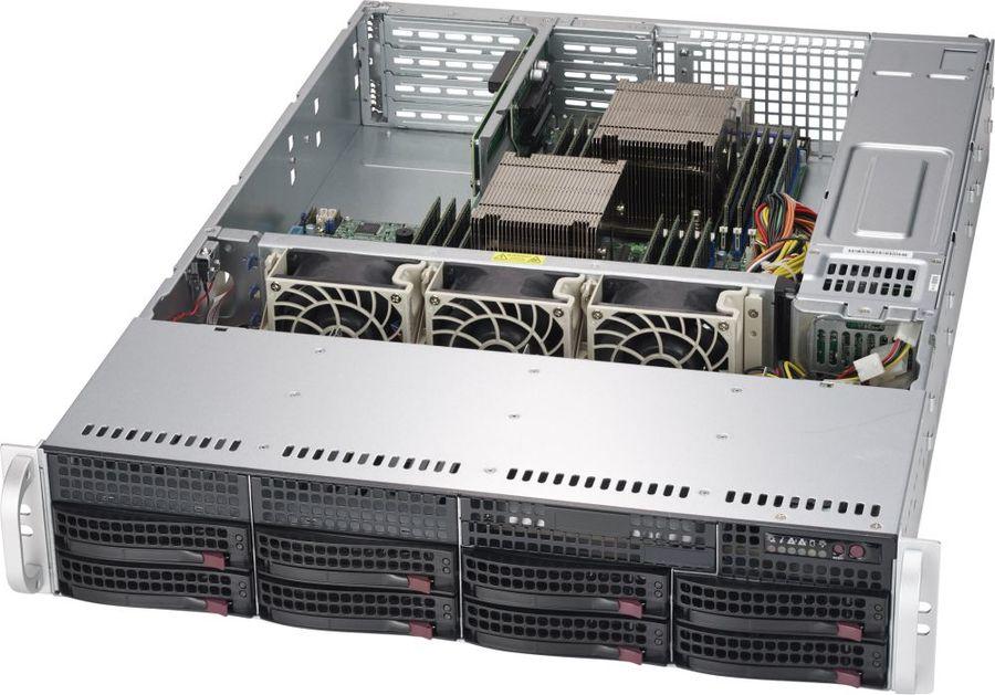 Корпус SuperMicro CSE-825TQC-R740WB 2x740W черный