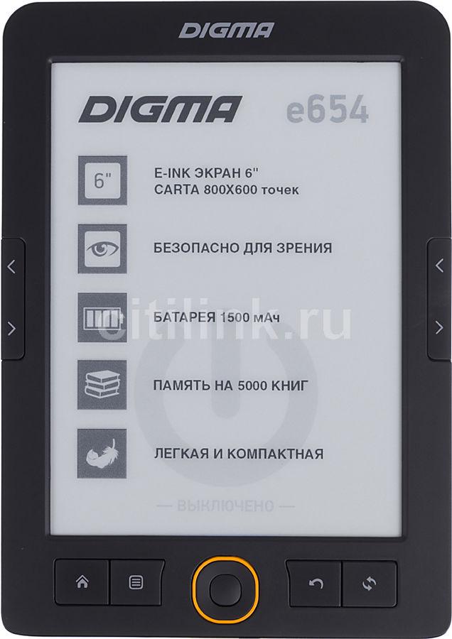 Электронная книга DIGMA E654, графит