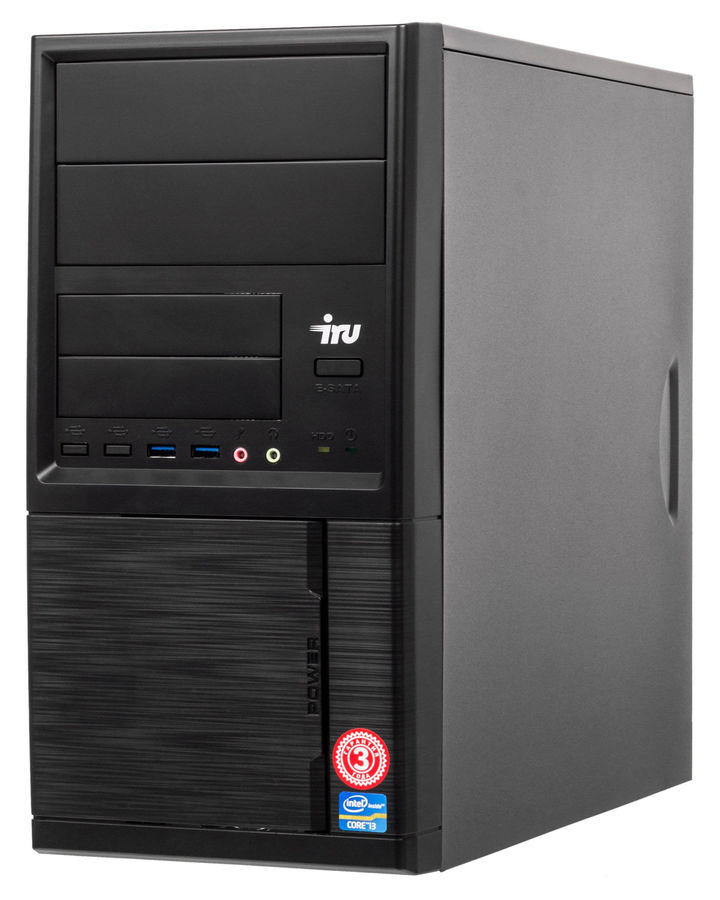 Компьютер  IRU Office 313,  Intel  Core i3  4170,  DDR3 4Гб, 120Гб(SSD),  Intel HD Graphics 4400,  Windows 10 Professional,  черный [1066867]