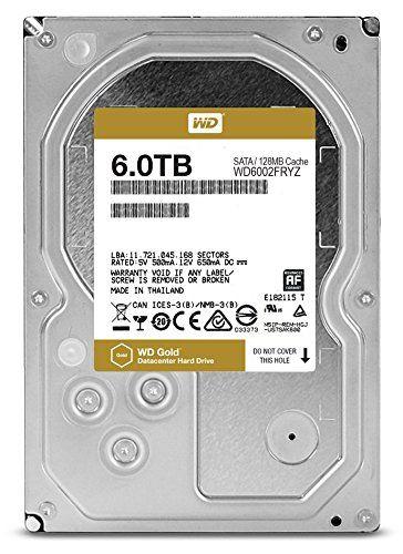 "Жесткий диск WD Gold WD6002FRYZ,  6Тб,  HDD,  SATA III,  3.5"""