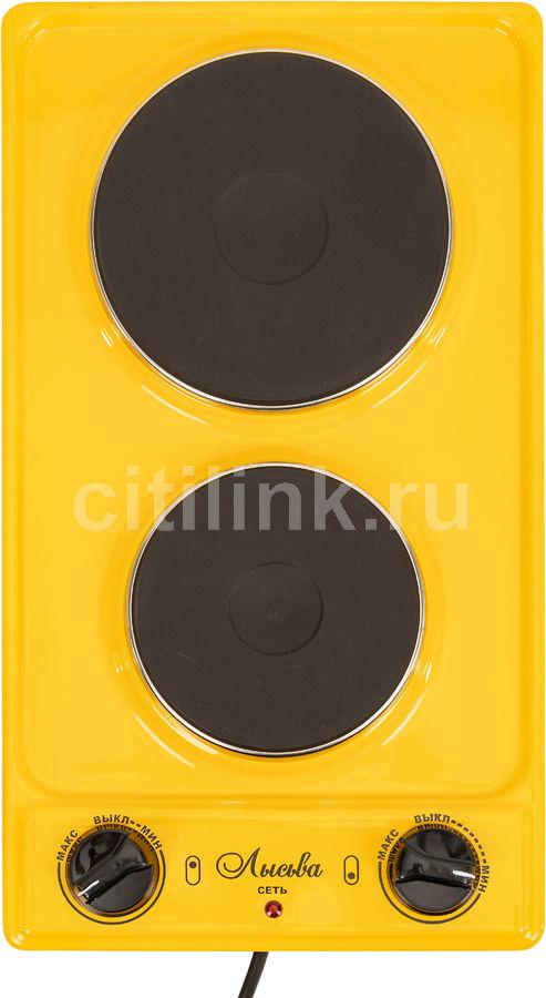 Электрическая плита ЛЫСЬВА ЭПБ 22,  эмаль,  желтый