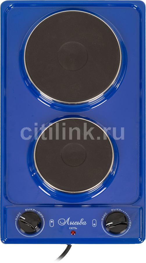 Электрическая плита ЛЫСЬВА ЭПБ 22,  эмаль,  синий