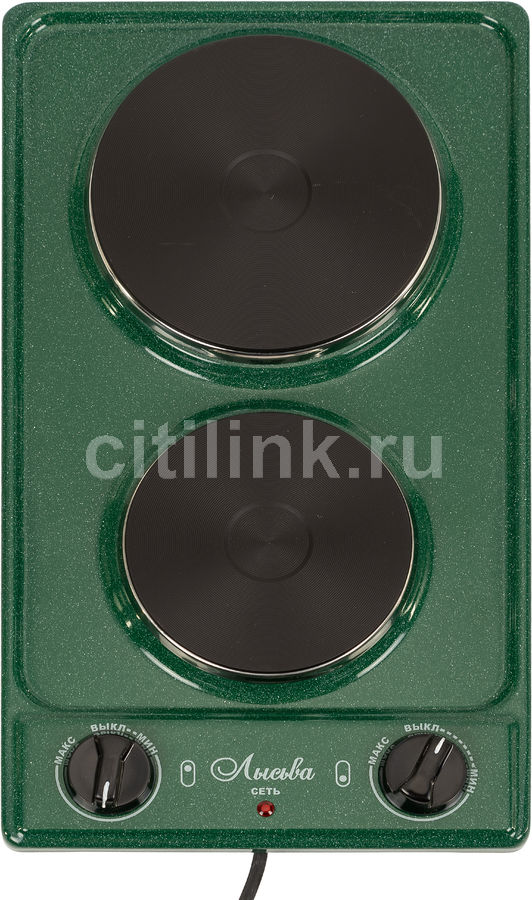 Плита Электрическая Лысьва ЭПБ 22 малахит/рябчик эмаль (настольная)