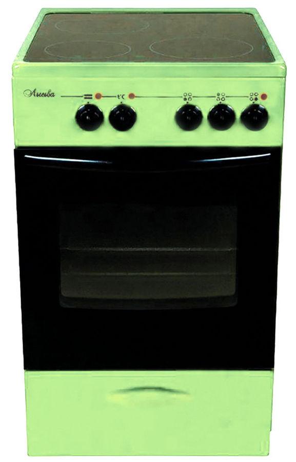 Электрическая плита ЛЫСЬВА ЭПС 301 МС,  стеклокерамика,  зеленый