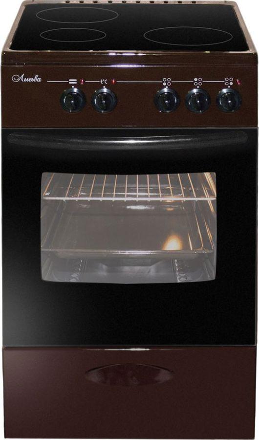 Электрическая плита ЛЫСЬВА ЭПС 301 МС,  стеклокерамика,  коричневый