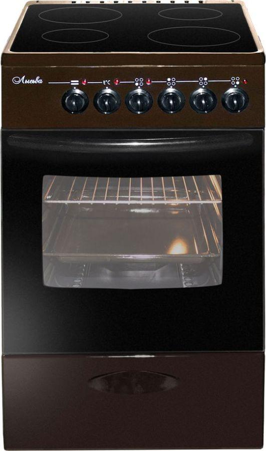 Электрическая плита ЛЫСЬВА ЭПС 411 МС,  стеклокерамика,  коричневый