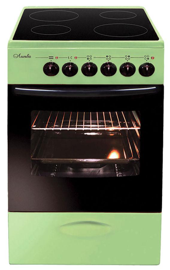 Электрическая плита ЛЫСЬВА ЭПС 411 МС,  стеклокерамика,  зеленый