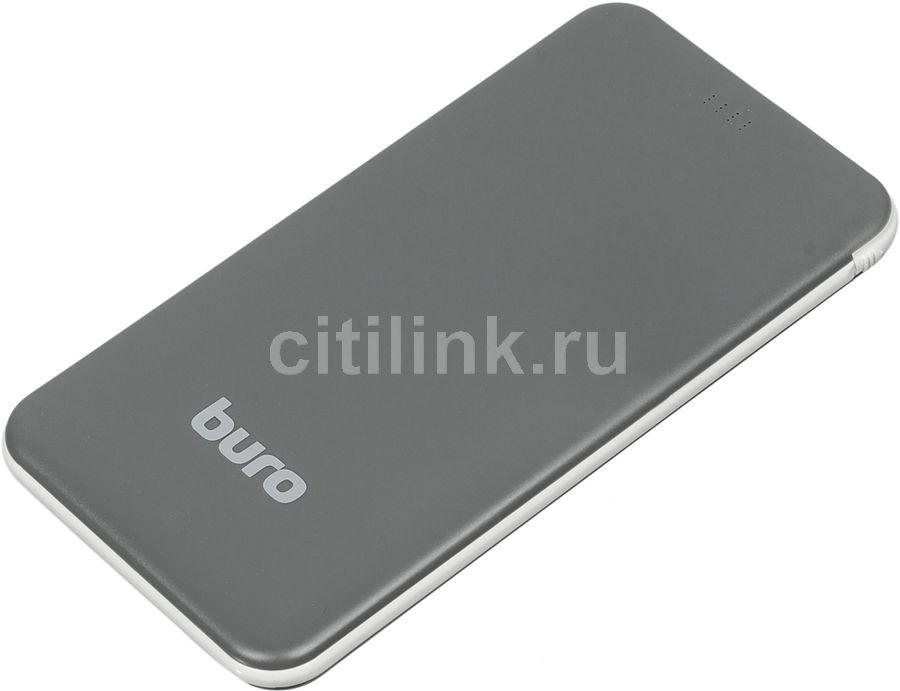 Внешний аккумулятор (Power Bank) BURO RCL-5000-BW,  5000мAч,  черный/белый