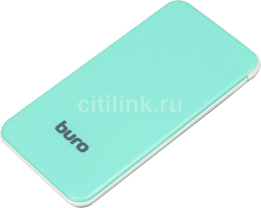 Внешний аккумулятор (Power Bank) BURO RCL-5000-GW,  5000мAч,  зеленый/белый