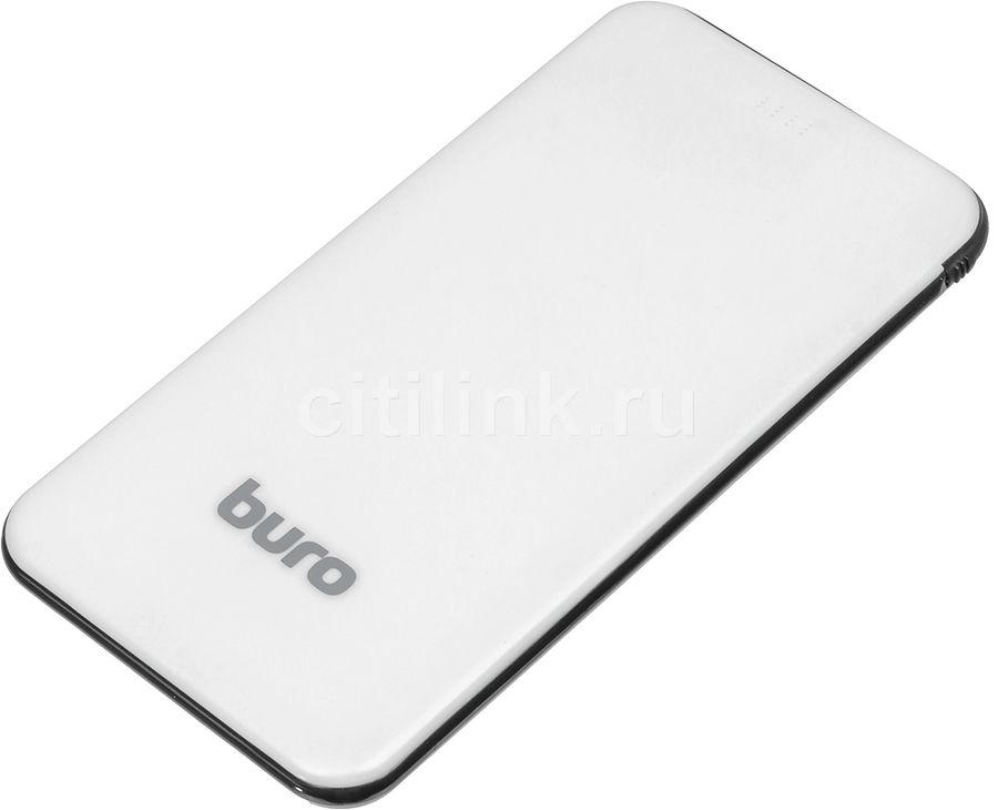 Внешний аккумулятор (Power Bank) BURO RCL-5000-BB,  5000мAч,  светло-голубой/черный