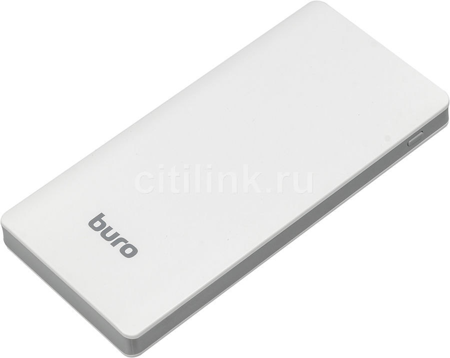 Внешний аккумулятор (Power Bank) BURO RCL-10000-WG,  10000мAч,  белый/серый