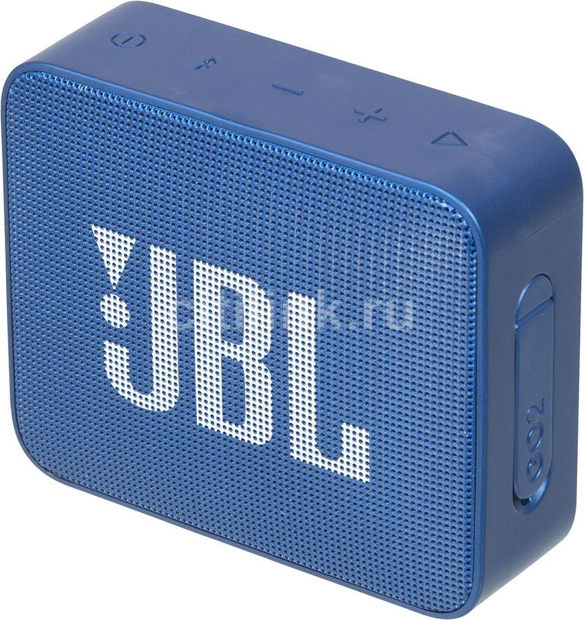Портативная колонка JBL GO 2,  3Вт, синий  [jblgo2blu]
