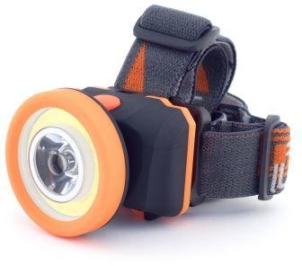 Налобный фонарь ЯРКИЙ ЛУЧ LH-175 COB, черный  / оранжевый
