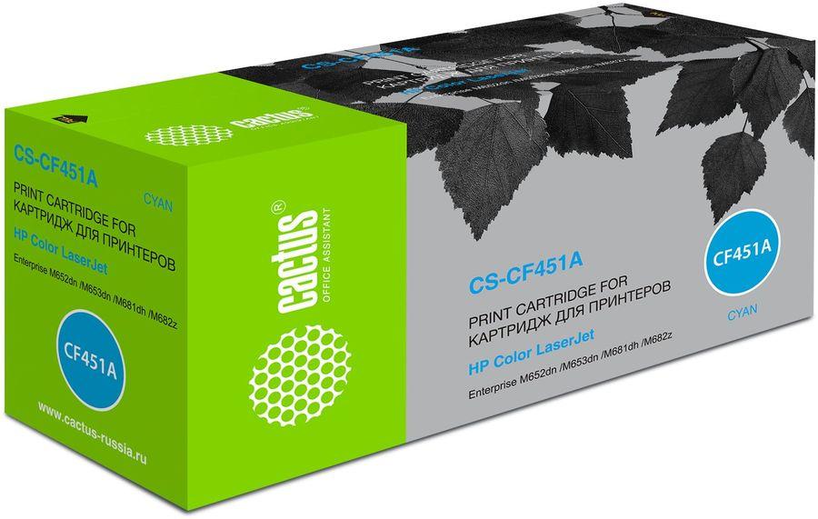 Картридж CACTUS CS-CF451A, голубой