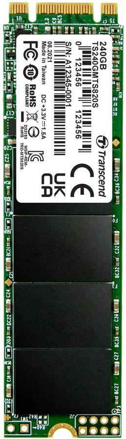 SSD накопитель TRANSCEND TS240GMTS820S 240Гб, M.2 2280, SATA III
