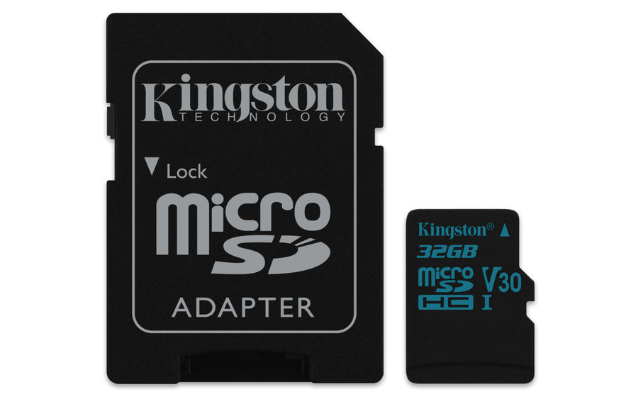 Карта памяти microSDHC UHS-I KINGSTON Canvas Go 32 ГБ, 90 МБ/с, Class 10, SDCG2/32GB,  1 шт., переходник SD