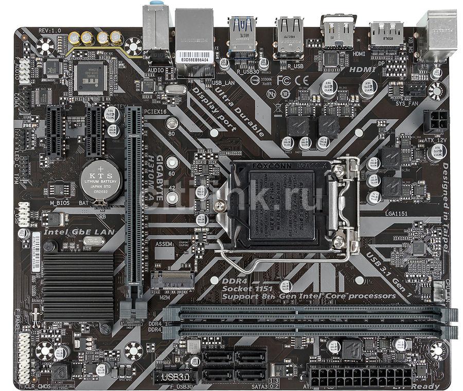 Материнская плата GIGABYTE H310M A, LGA 1151v2, Intel H310, mATX, Ret