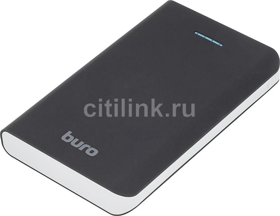 Внешний аккумулятор (Power Bank) BURO RA-30000,  30000мAч,  черный/серый