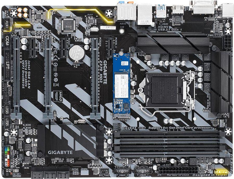 Материнская плата GIGABYTE Z370 HD3-OP, LGA 1151v2, Intel Z370, ATX, Ret