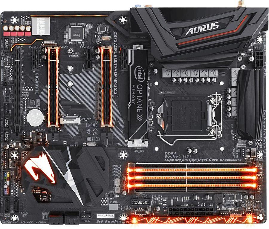 Материнская плата GIGABYTE Z370 AORUS ULTRA GAMING 2.0-OP, LGA 1151v2, Intel Z370, ATX, Ret