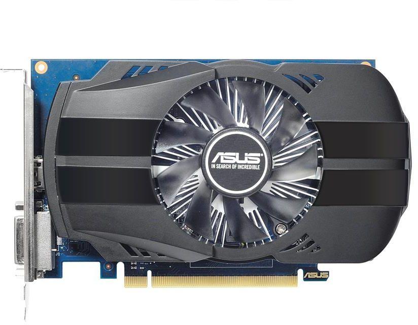 Видеокарта ASUS nVidia  GeForce GT 1030 ,  PH-GT1030-O2GD4,  2Гб, DDR4, OC,  Ret