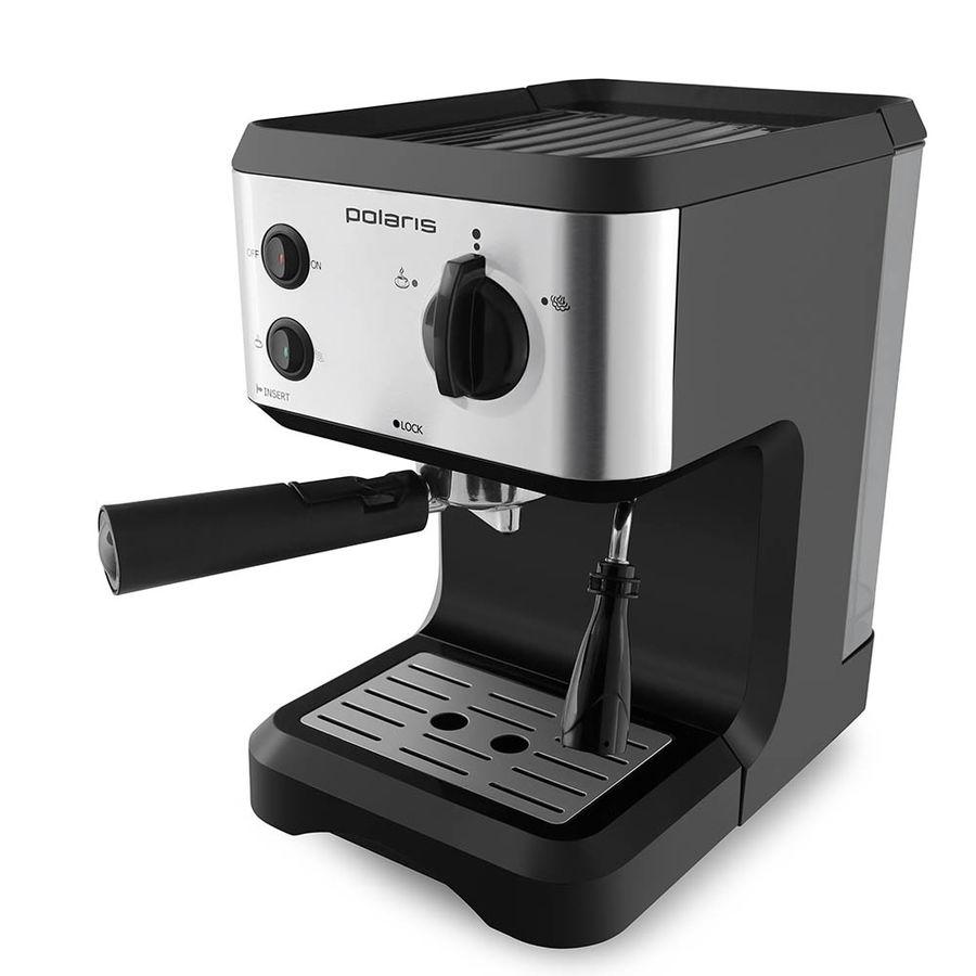 Кофеварка POLARIS PCM 1517AE,  эспрессо,  серебристый  / черный