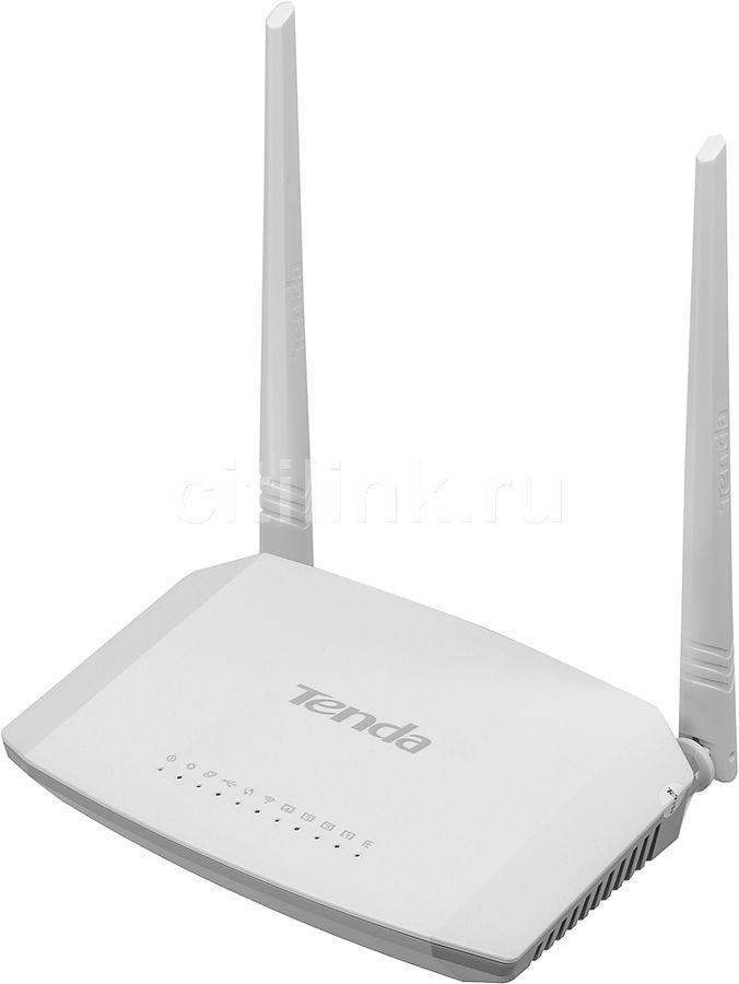 Беспроводной роутер TENDA D301,  ADSL2+,  белый
