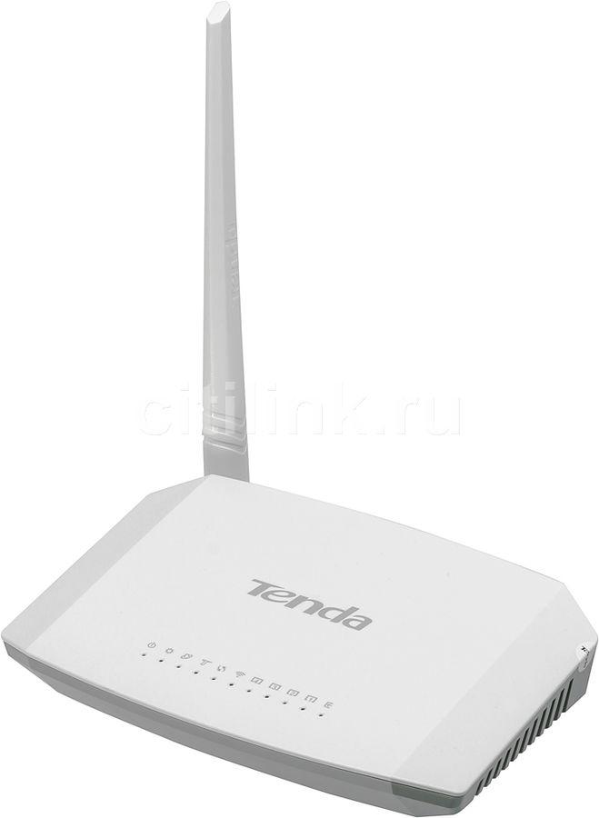 Беспроводной роутер TENDA D151,  ADSL2+,  белый