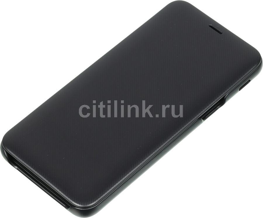 Чехол (флип-кейс) SAMSUNG Wallet Cover, для Samsung Galaxy J6 (2018), черный [ef-wj600cbegru]