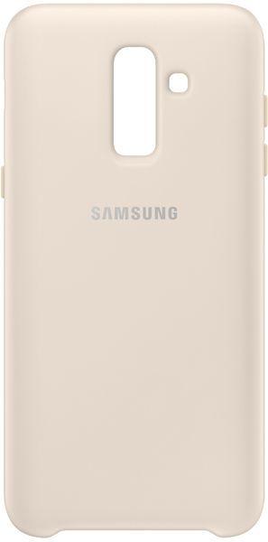 Чехол (клип-кейс) SAMSUNG Dual Layer Cover, для Samsung Galaxy J8 (2018), золотистый [ef-pj810cfegru]