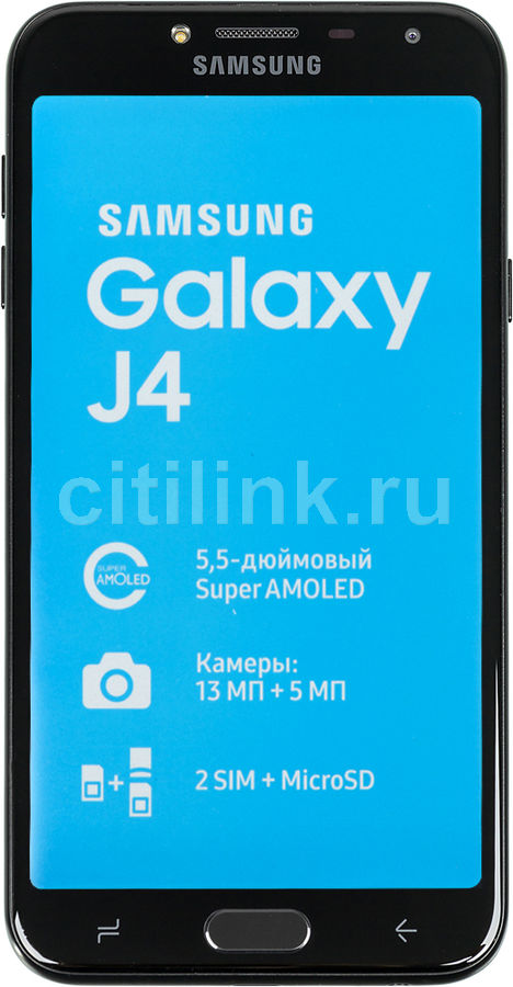 Смартфон SAMSUNG Galaxy J4 (2018) 32Gb,  SM-J400,  черный