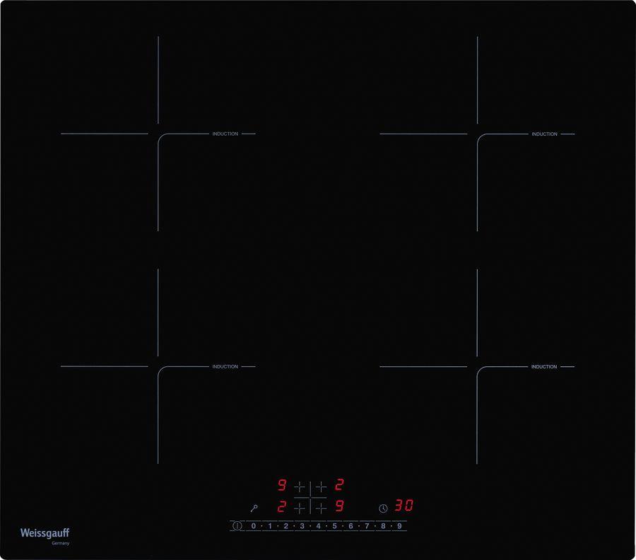 Варочная панель WEISSGAUFF HI 640 BS,  индукционная,  независимая,  черный