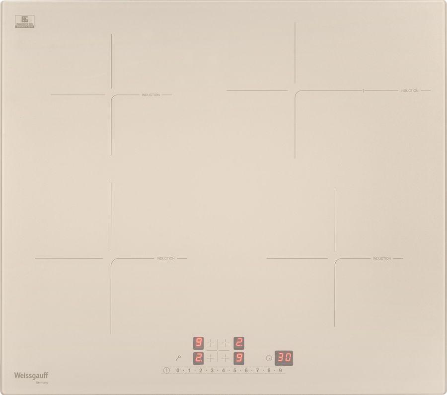 Варочная панель WEISSGAUFF HI 641 GS,  индукционная,  независимая,  слоновая кость