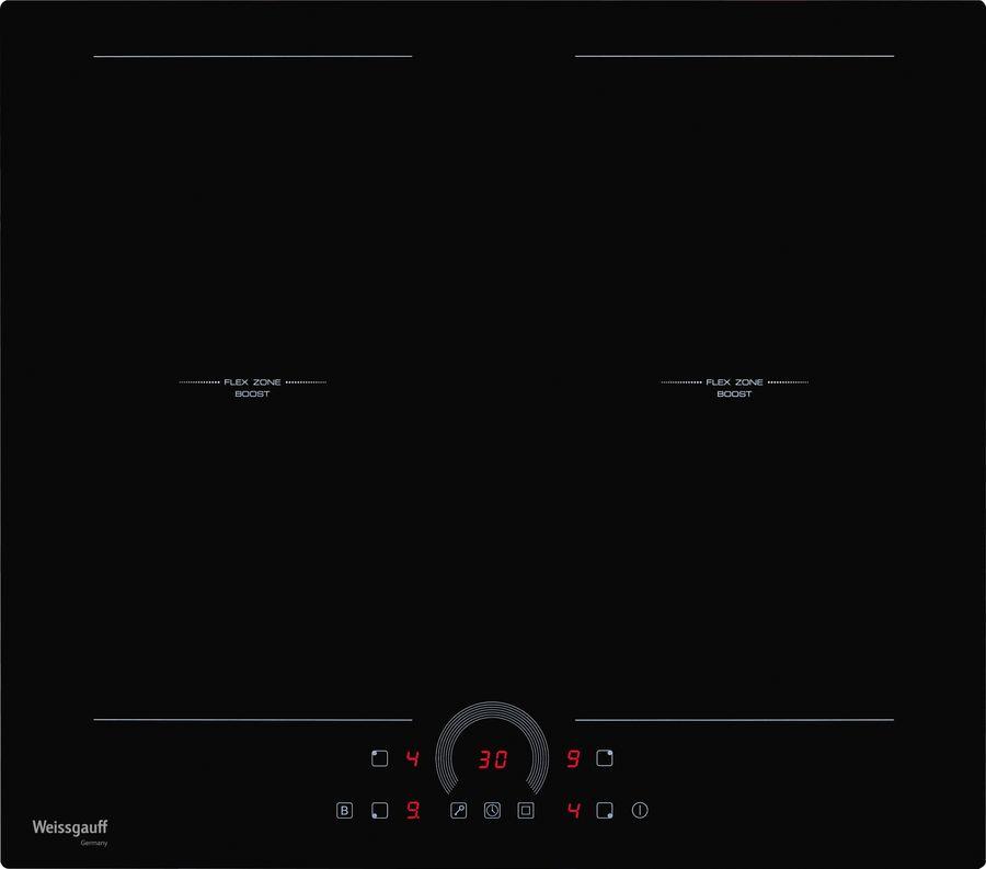Варочная панель WEISSGAUFF HI 642 BFZ,  индукционная,  независимая,  черный