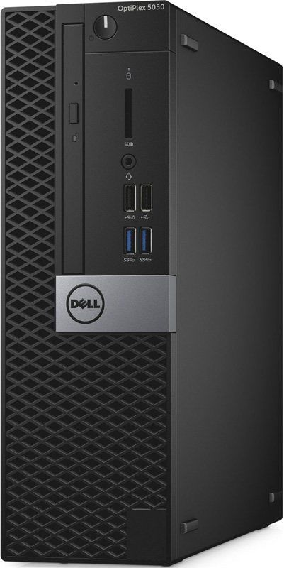 Компьютер DELL Optiplex 5050, Intel Core i5 7500, DDR4 8Гб, 1Тб, Intel HD Graphics 630, DVD-RW, Windows 10 Professional, черный [5050-6988] настольный компьютер dell optiplex 5050 mt black silver 5050 8299 intel core i7 7700 3 6 ghz 8192mb 1000gb dvd rw intel hd graphics ethernet windows 10 pro 64 bit
