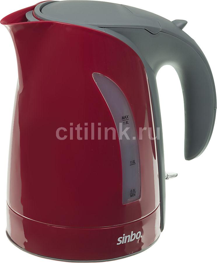 Чайник электрический SINBO SK 7392, 2200Вт, красный