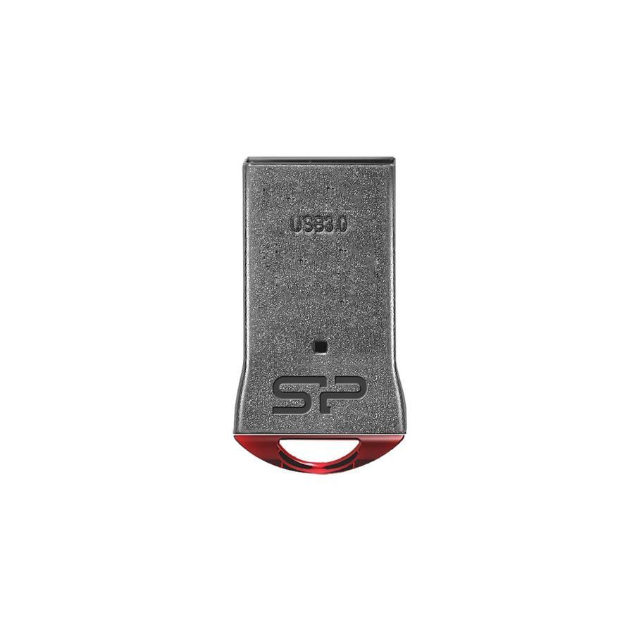 Флешка USB SILICON POWER Jewel J01 16Гб, USB3.1, серебристый и красный [sp016gbuf3j01v1r]