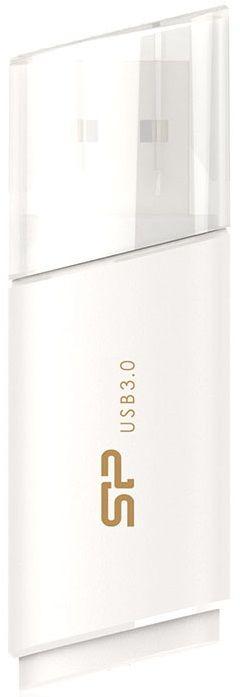 Флешка USB SILICON POWER Blaze B06 32Гб, USB3.1, белый [sp032gbuf3b06v1w]
