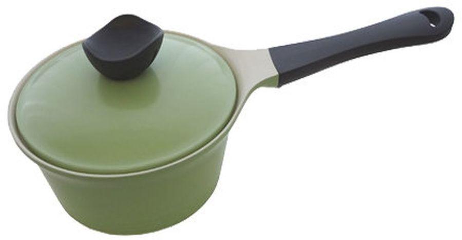 Ковш FRYBEST Evergreen GRCY-S18, 2л, с крышкой, зеленый