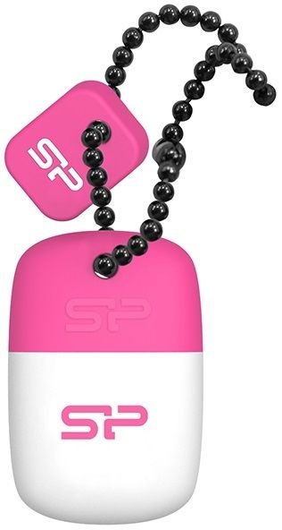 Флешка USB SILICON POWER Touch T07 16Гб, USB2.0, белый и розовый [sp016gbuf2t07v1p]