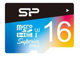 Карта памяти microSDHC UHS-I U3 SILICON POWER 16 ГБ, 90 МБ/с, Class 4, SP016GBSTHDU3V20SP,  1 шт., переходник SD