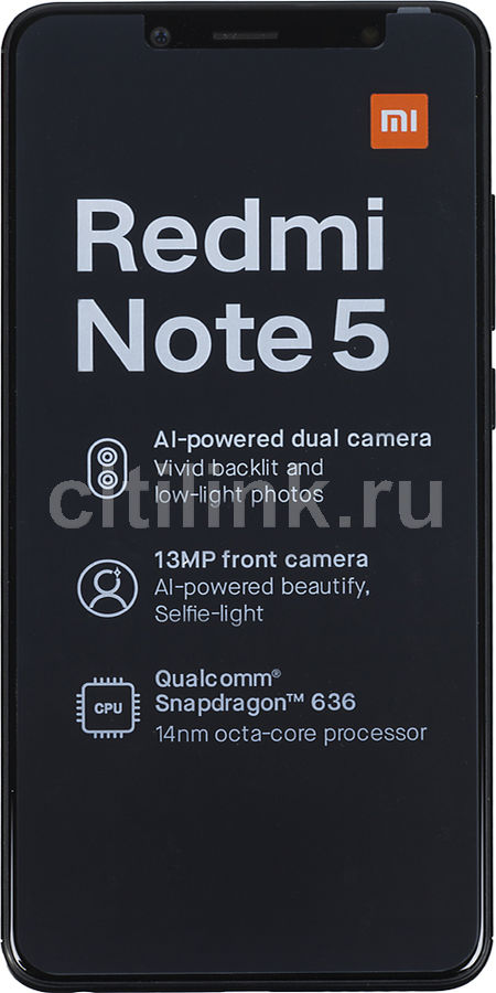 Смартфон XIAOMI Redmi Note 5 32Gb, черный