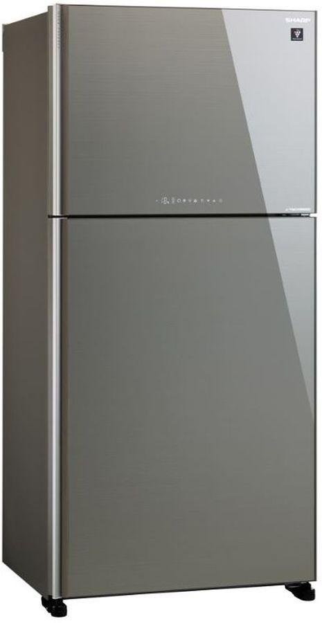 Холодильник SHARP SJ-XG60PGSL,  двухкамерный, серебристое стекло