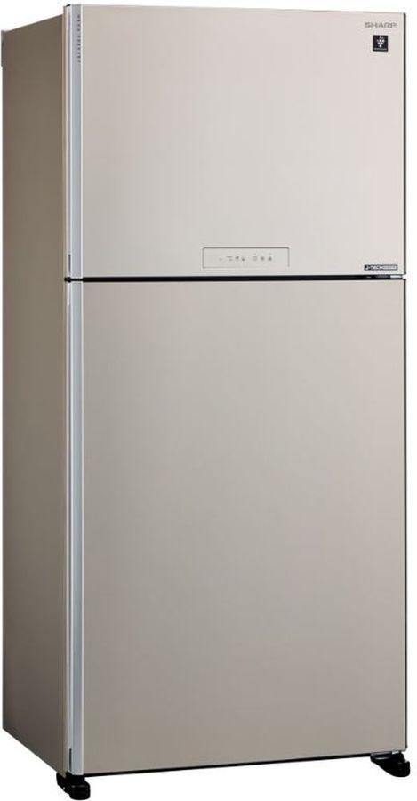 Холодильник SHARP SJ-XG60PMBE,  двухкамерный, бежевый