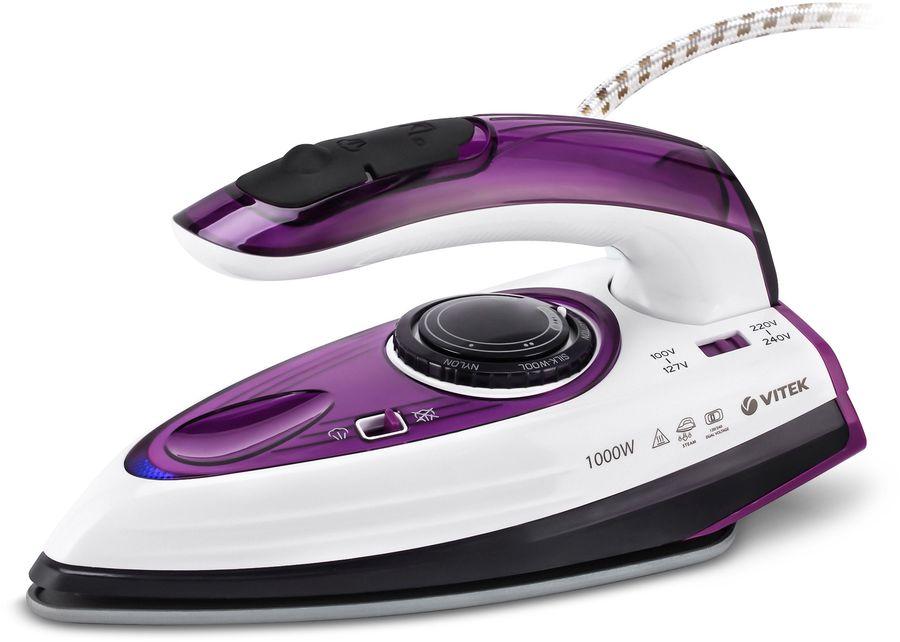 Утюг VITEK VT-8305 VT,  1000Вт,  фиолетовый/ белый [8305-vt-01]