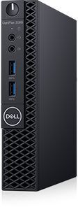 Компьютер  DELL Optiplex 3060,  Intel  Core i3  8100T,  DDR4 4Гб, 500Гб,  Intel UHD Graphics 630,  Linux Ubuntu,  черный [3060-7557]
