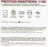 "Ноутбук PRESTIGIO SmartBook 116C, 11.6"",  IPS, Intel  Atom X5  Z8350 1.44ГГц, 2Гб, 32Гб eMMC,  Intel HD Graphics  400, Windows 10 Home, PSB116C01BFH_DB_CIS,  темно-синий вид 18"